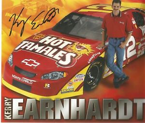Kerry Earnhardt 8x10 Autographed Post Card  L@@K