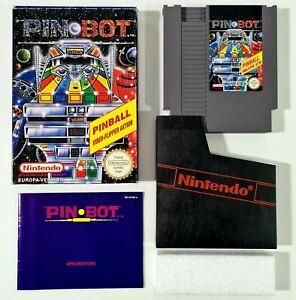 Nintendo NES Spiel PIN⚪BOT dt. European PAL Entertainment System Arcade Flipper