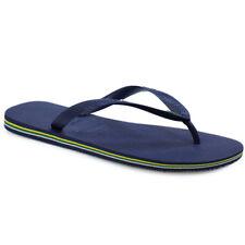 9ff9b6d6ac0f4d Havaianas Brazil Logo Womens Pink Blue Flip Flops Navy UK 10 - EU 44