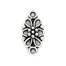10 Connecteurs entre-deux _ FLEUR 16x8x4mm _ Perles apprêts créat bijoux /A203/