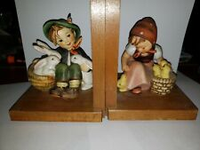 Hummel Bookends, Playmates And Chick Girl