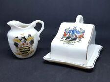 Blackpool Crested China Cheese Dish & Jug | Lancashire | Gemma Crested China