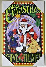 "Mary Engelbreit by Mark Roberts For Christmas Give Your Heart 17"" x 11"" Canvas"