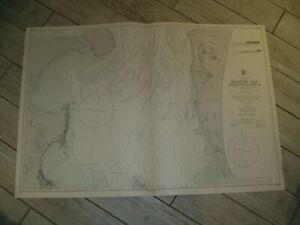 Vintage Admiralty Chart 1673 AUSTRALIA - APPROACHES TO BRISBANE 1950 edn