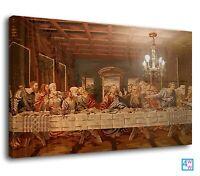 Traditional Portrait Jesus Last Supper Canvas Print Wall Art Picture