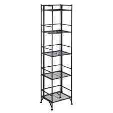 Convenience Concepts Xtra Storage 5 Tier Folding Metal Shelf, Black - 8016B
