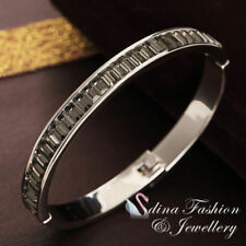 Lab-Created/Cultured White Gold Filled Fashion Bangles