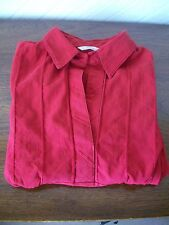 Red Three-Quarter Sleeve Blouse/Tunic with Stretch, Size 16, Marks & Spencer