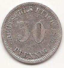 Deutsches Reich Kaiserreich 50 Pfennig 1875 D, München, Silber, äußerst RAR!!!