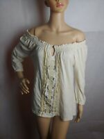 LUCKY BRAND Womens Blouse Size Medium Embroidered Cotton pre-owned