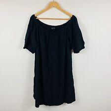 City Chic Womens Black Dress Plus Size Medium Stretchy Off Shoulder Short Sleeve