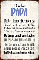 Danke Papa Blechschild Metallschild Schild gewölbt Metal Tin Sign 20 x 30 cm