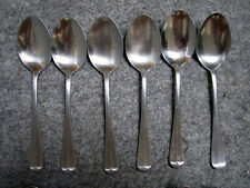 Barclay Geneve OYSTER BAY 6 Dinner Soup Spoons Stainless Steel
