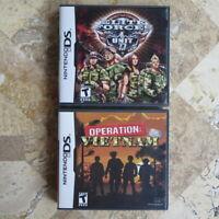 Nintendo DS/3DS LOT -- ELITE FORCES UNIT 77 + OPERATION VIETNAM -- USA Complete