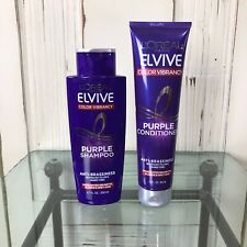 NEW L'Oreal Elvive Color Vibrancy Purple Shampoo & Conditioner Anti-Brassiness