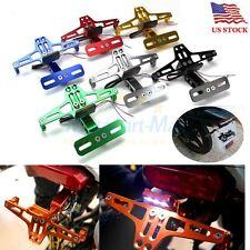 CNC Motorcycle License Plate Holder LED Tail Light Eliminator Kit For Honda KTM