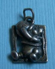 pot Disney bear sterling charm Vintage Winnie the Pooh with honey