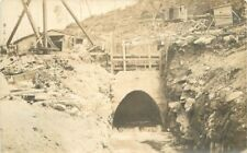 c1910 Occupation Mill Steam Shovel Construction Water Outflow RPPC Real Photo