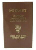MOZART 10 GREAT SYMPHONIES No. 25, 29, 33-36, 38-41 3 AUDIO CASSETTE TAPES