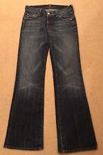 Women's 7 for All Mankind dark indigo stretch bootcut leg jeans, size 25