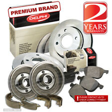 Peugeot 206 1.4 8V Front Brake Pads Discs 247mm & Rear Shoes Drums Set Kit 203mm