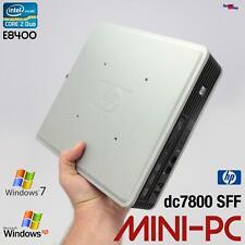 MICRO ULTRA SLIM OFFICE HP COMPAQ DC7800 USFF MINI COMPUTER PC WINDOWS XP 7 DVDR