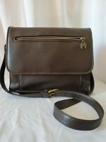 Relic Brown Leather Purse Crossbody Shoulderbag Arch Charm Pebbled Flap