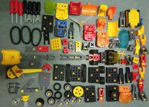 Lego Duplo TOOLO Konvolut 2,2 KG Bagger / Fahrzeuge / 7x Werkzeug / Ersatzteile