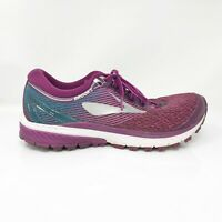 Brooks Womens Ghost 10 1202461B511 Purple Teal Running Shoes Lace Up Size 9.5 B