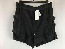 Women's Splendid Paper-Bag Short, Size L - Charcoal Grey
