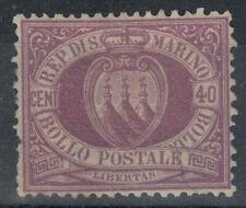 SAN MARINO 1877-90 40c violetto bruno MH*