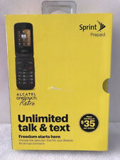 Sprint Alcatel OneTouch Retro Cell Phone No Contract No Credit Check Prepaid NEW