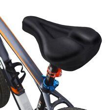 Noir 3D Gel-rembourrée Vélo Bicyclette Selle Housse Confort Fourreau Gel Souple