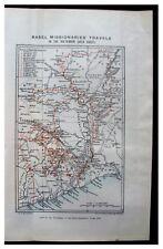 1886 Basel Missionaries - GOLD COAST - VOLTA BASIN - COLOR ROUTE MAP - 4