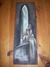Brother Matthew OSF Signed painting barnwood Monk Friar Original US