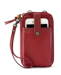 The Sak Iris North South Smartphone Red Crossbody Wallet Women's Handbag