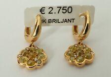 Ohrringe mit Brillanten besetzt, 18 K / 750, ECHTES GOLD! ear rings eVp 2.750 €