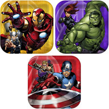 AVENGERS ASSEMBLE SMALL PAPER PLATES (8) ~ Birthday Party Supplies Dessert Cake