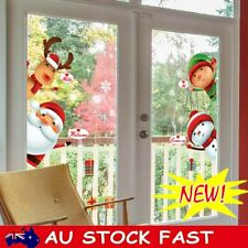 Christmas Snowman Snowflake Santa Wall Decal PVC Window Sticker Art Decorations