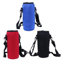 1000ml neoprene water bottle carrier insulated cover bag holder strap travel ^P