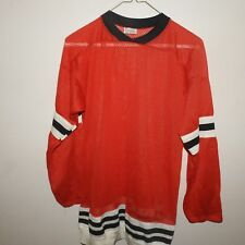 Old Style Blank Chicago Blackhawks Hockey Jersey Boys Large
