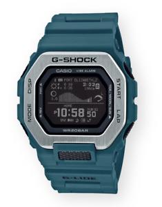 Casio G-Shock G-Lide Tide Graph Step Tracker GBX100-2 Teal Bluetooth Brand New
