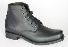 13303 Sendra Lace up Boots Strong Dark Biker Boots