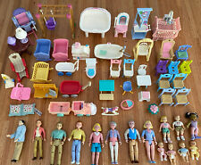 Dollhouse Furniture & People Lot Fisher Price Loving Family People Baby Vintage