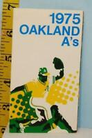 1975 Oakland A's Baseball Schedule Miller High Life Beer #OAoi9