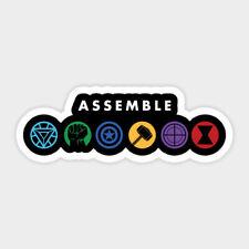 Assemble Infinity War Avengers Vinyl Wall Decal Decor High Quality Sticker