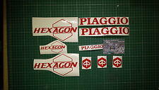 Piaggio Hexagon Decals/Stickers ALL COLOURS AVAILABLE 50 125 reduced