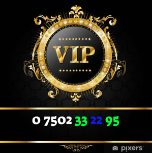 07502 33 22 95 GOLD VIP BUSINESS EASY TO REMEMBER MEMORABLE MOBILE NUMBER SIM