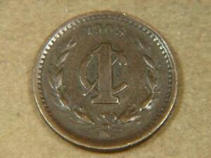 1903 Mexico 1 Centavo Coin