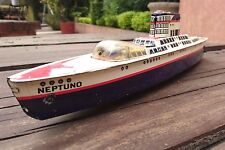 VTG PLASTIMARX (MEXICAN MARX) TIN LITHO FRICTION BOAT OCEAN LINER SHIP MEXICO
